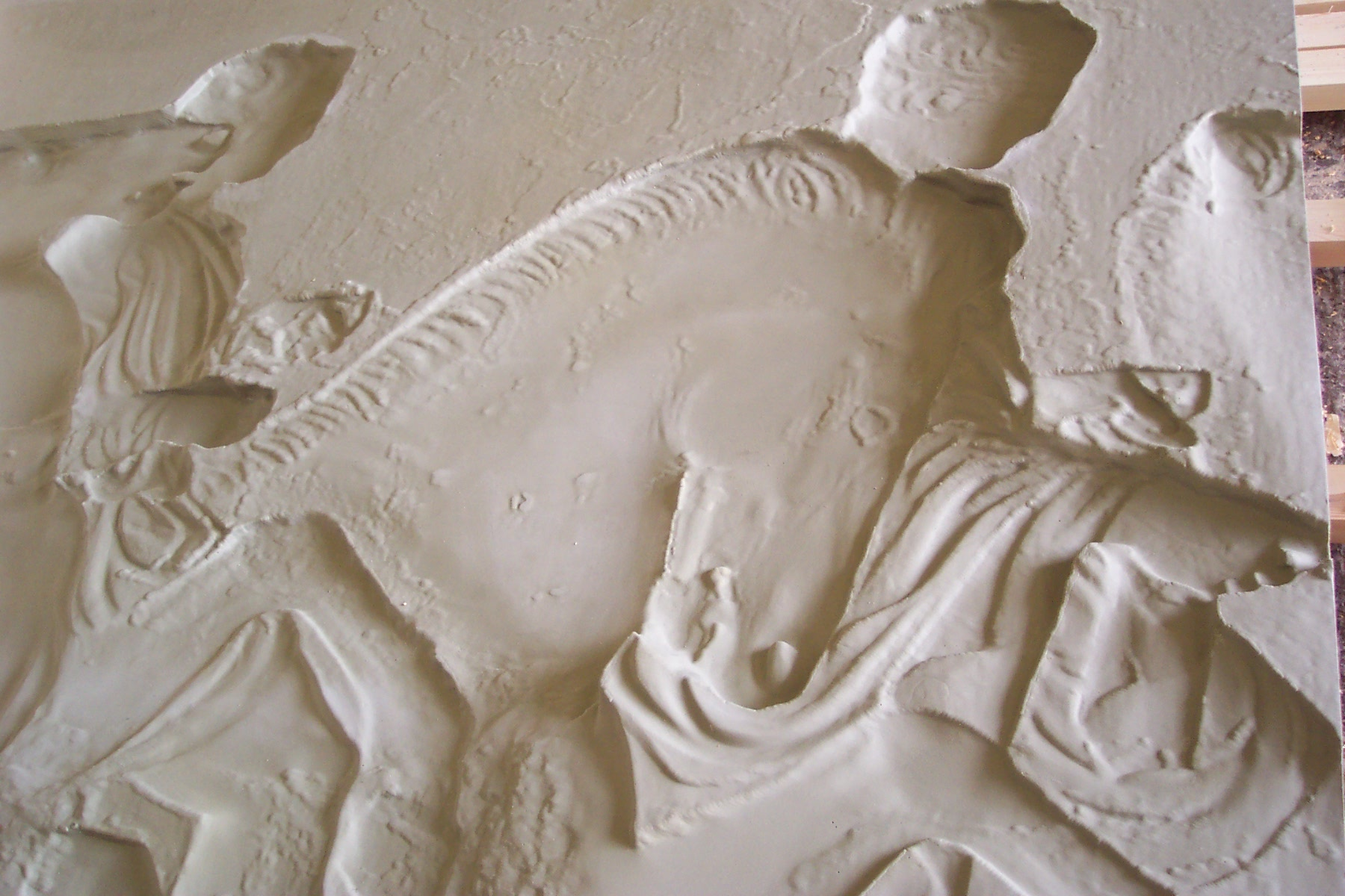 Mould to replicate the Elgin marbles