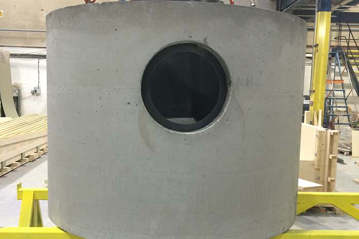 GRP separator fitted into a precast pipe